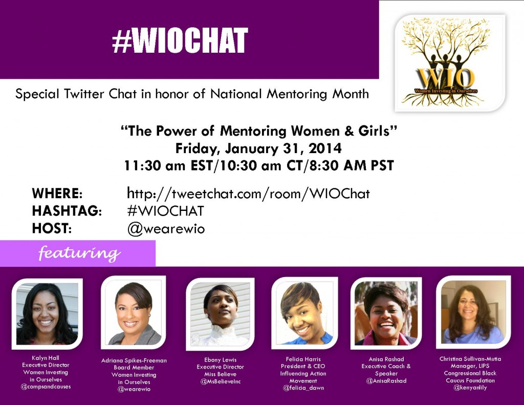 <b>January 31st at 11:3am EST, Join #WIOchat National Twitter Chat</b>