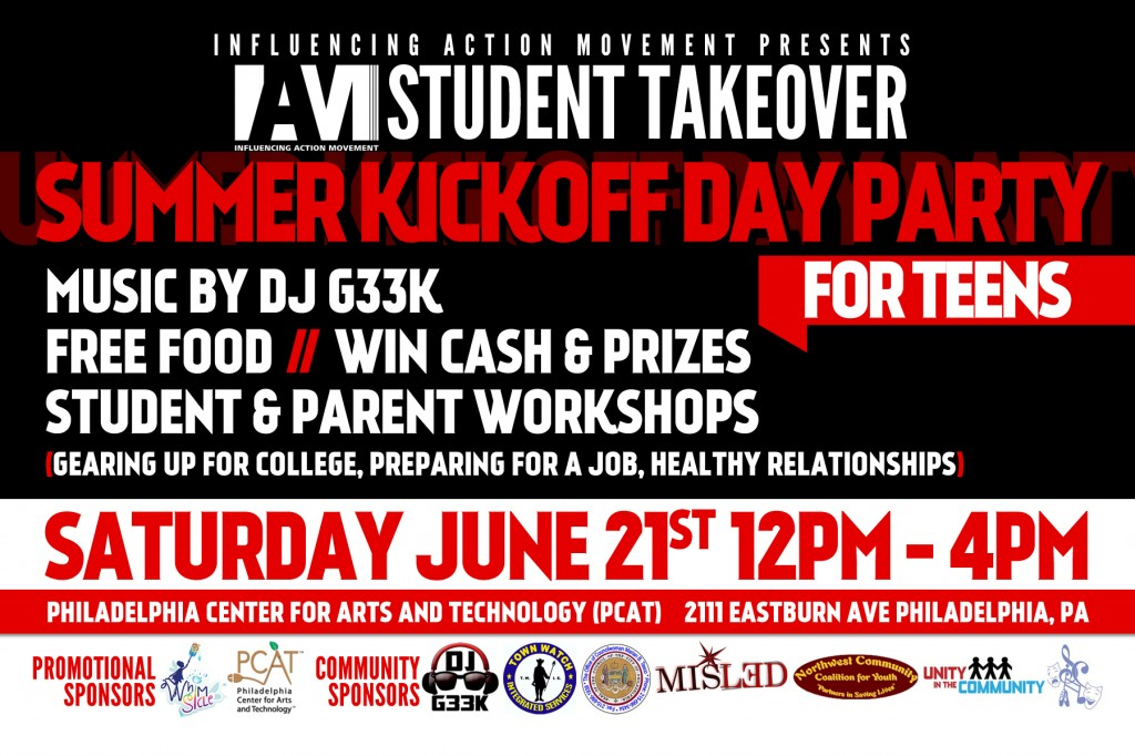 <b>IAM Student Takeover: Day Party for Teens - Saturday, June 21st</b>