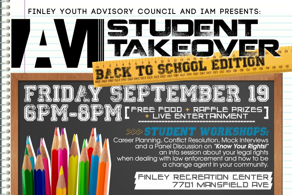 <b>IAM Student TakeOver: Back to School Edition on Friday, September 19th!</b>