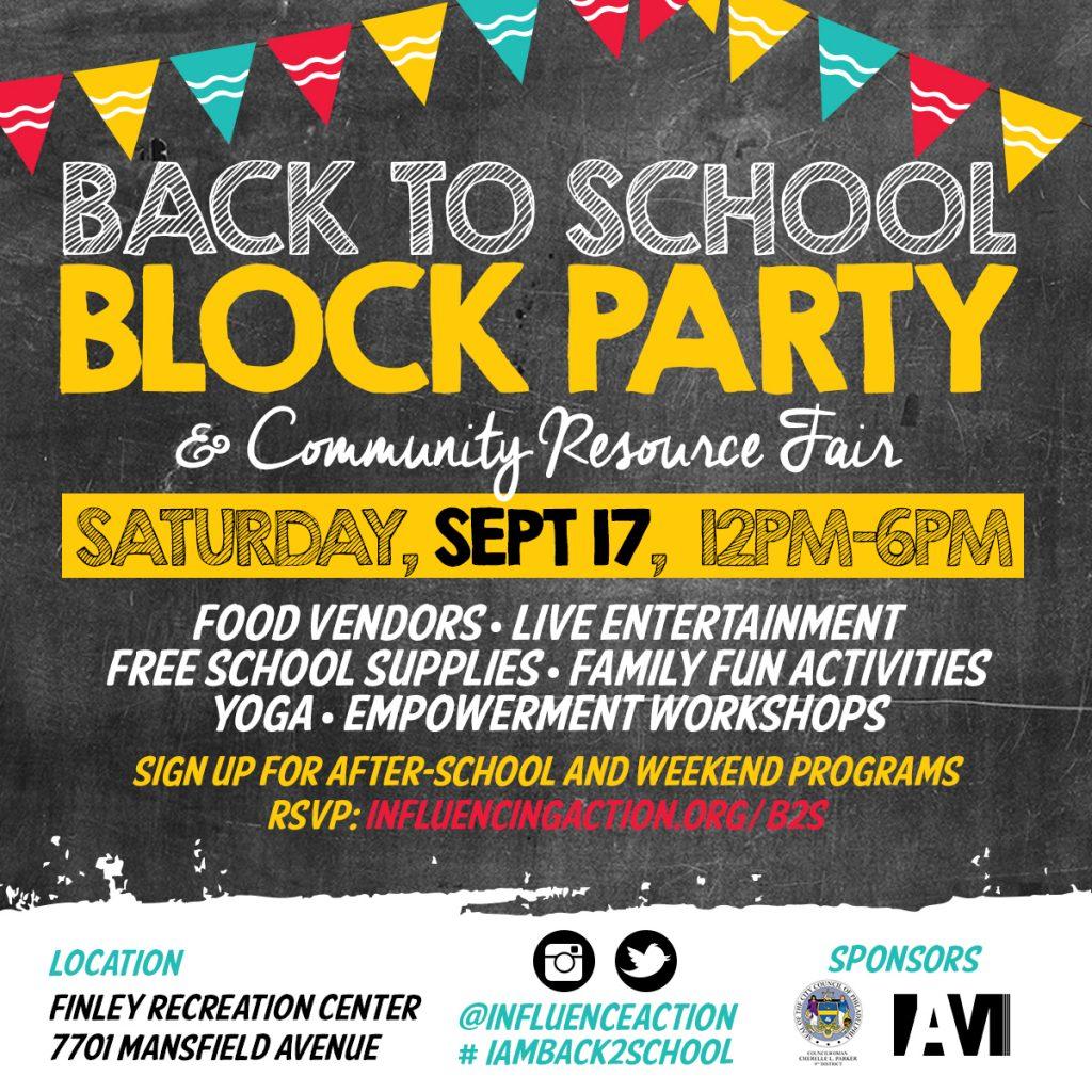 <b>Meet us Uptown on September 17th: IAM Back to School Block Party & Community Resource Fair</b>