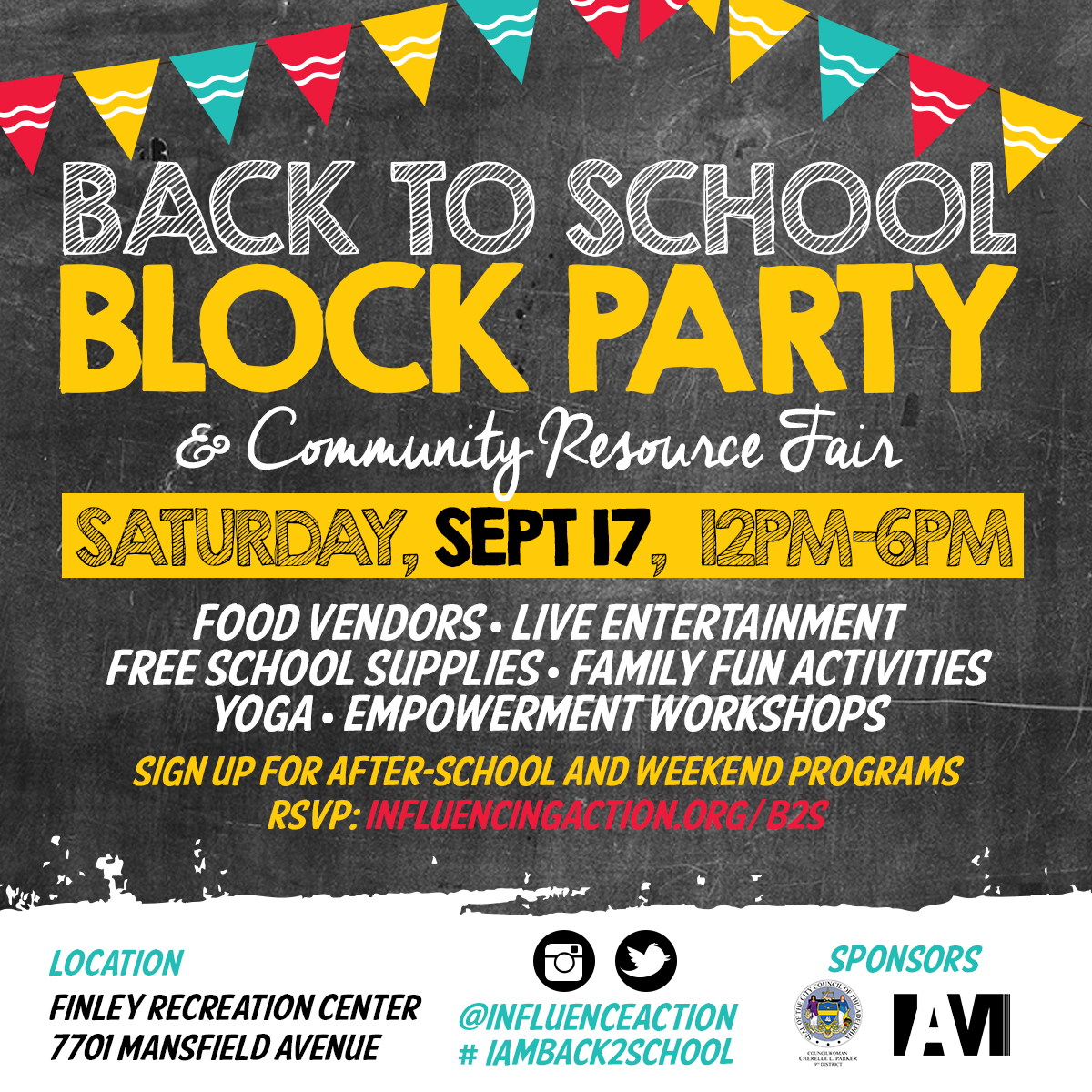 meet us uptown on 17th iam back to school block party iam in partnership the office of councilw cherelle parker and the finley recreation center advisory board is hosting its 5th annual back to school