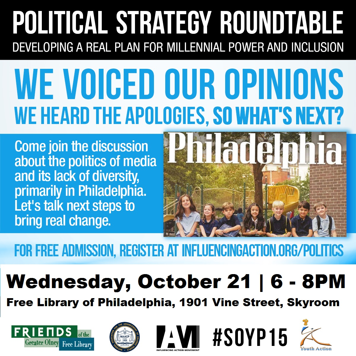 Round table discussion flyer - Final Flyer Political Roundtable Oct 2015